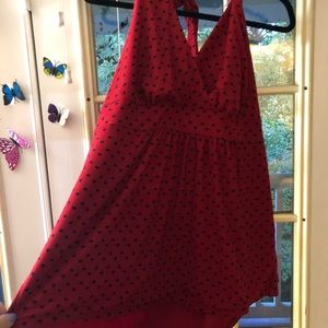 Red heart dot halter